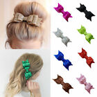 Women Girl Sequined Glitter Hairpin Bowknot Barrette Sweet Crystal Hair Clip Bow