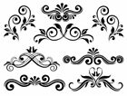 Victorian Swirls Scrolls Floral Flourish Waterslide Decal PICK YOUR COLOR MIS546