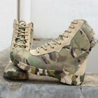 Mens outdoor camo highTop combat boots military hiking waterproof Tactical shoes