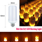LED Flame Effect Light Corn Bulb B22 E26 E27 7W Simulated Nature Flicking Lamp