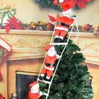 Santa Claus Climbing On Rope Ladder Christmas Trees Hanging Home Creative Decor