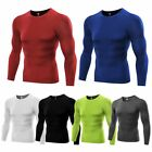 US Mens T-Shirt Compression Under Base Layer Sports Long Sleeve Tops Running