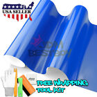 *Premium Gloss Glossy Intense Blue Vinyl Wrap Sticker Decal Air Release Bubble