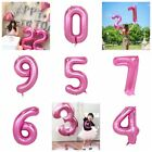 Pink Large Numbers Foil Balloons Banner For Party Birthday Wedding Decoration