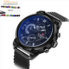 Fashion Casual Sports Men Waterproof Army Stainless Steel Wrist watch +Gift