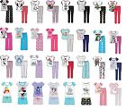 Womens Ladies Character Pyjamas Set Nightwear Pjs Warm Novelty Disney Marvel NEW