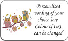 Owls on Branch Self Adhesive Personalised Labels with FREE protective wallet