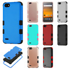 For ZTE Blade Force IMPACT TUFF HYBRID Protector Case Skin Phone Cover Accessory