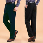 Fashion Mens Casual Fitted Formal Straight Dress Pants Smooth Business Trousers