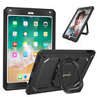 For Apple iPad 5th Gen 9.7'' 2017 Case 360 Rotating Grip Stand Shockproof Cover