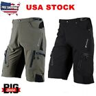 Men's Cycling Mountain Bike Bicycle Shorts Pants Zippered Pockets Quick Dry NEW