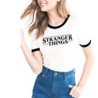 STRANGER THINGS T-shirt Women Men Summer Casual Tee Tops White S M L XL XXL XXXL