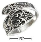 STERLING SILVER ANTIQUED SCROLLED SPOON RING Sizes 7,8,9