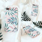 Leaves Flowers Print Hard PC Frosted Mobile Phone Cases For iPhone67/ 7/6S Plus