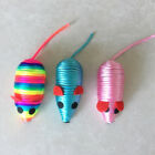 Mini Colorful Fake Mouse Pet Cat Squeaker Sound Playing Toy Scratcher Sanwood