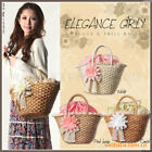 Woven Shoulder Bags Straw Summer Women Weave Crossbody Beach Travel Handbag