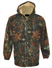 Mens Jungle Camouflage Thick Fleece Sherpa FurLined Coat Jacket Fishing Hunting