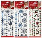 MOMENTUM 1 Sheet METALLIC Christmas/Holiday TEMPORARY TATTOOS New! *YOU CHOOSE*