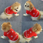 Christmas Puppy Dog Cat Pet Shirts Vests Costume Outfit Clothes Red Xmas Gift