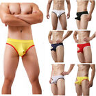 Mens Sexy 3D Convex Pouch Briefs Cotton Breathable Underpants Nightwear Erotic