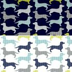 Dog Gone It Dogstooth Dachshunds Animals 100% Cotton Fabric (Camelot Fabrics)