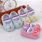Toddler Kids Girl Bowknot Princess Shoes Floral Soft Sole Crib Shoes 6-12M