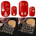 Christmas SILVER GOLD Snowflakes Xmas Trees Gifts 3D Nail Art Stickers D 01