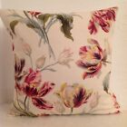 LAURA ASHLEY CUSHION COVER GOSFORD CRANBERRY PINK LEMON FLORAL PATTERN