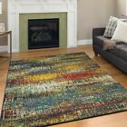 Modern Design Multi Area Rug Contemporary Style Colorful Rio Rainbow Carpet