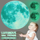 Внешний вид - 30cm Luminous Glow in the Dark Moon Wall Sticker Home Art Decor Kids Room Decal