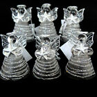 HANDMADE SILVER COLOURED GLASS ANGEL CHRISTMAS TREE DECORATIONS, FROM VENICE