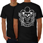 Western Cowboy Skull Guns Men T-shirt Back S-5xl New | Wellcoda
