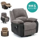 POSTANA JUMBO CORD FABRIC RISE RECLINER ARMCHAIR ELECTRIC LIFT RISER CHAIR