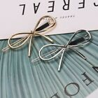 Hollowed-Out Bow Frog Clipped  Simplified Double Matte Hairpin Clip AU 97K MMJ