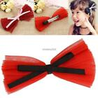 Baby Girls Mesh Bowknot Hair Side Clip Headwear Hairpins Hair N4U8 03