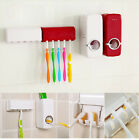 auto automatic toothpaste dispenser 5 toothbrush holder