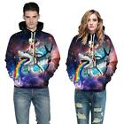 Cat Ride Shark Vomit Rainbow in Galaxy 3D Print Men/Women Hoodie Sweatshirt Tops