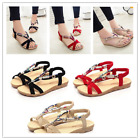 US Stock Womens Thong Sandals Bohemia Beach Flat Foothold Cool Shoes Flip Flops