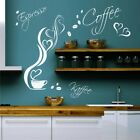 Coffee Espresso Coffee Wall Tattoo Cup Beans Hearts Kitchen Sayings Text XL 2W