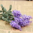 Silk 10 Heads Artifical Lavender Flowers Fabric Bouquet Wedding Home Decor Gift