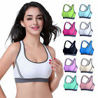 Women Yoga Fitness Stretch Workout Tank Top Padded Seamless Gym Sports Bra GIFT