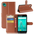 For Wiko Sunny 2 Plus Leather Flip Cover Slots Wallet Stand Case Pouch 9 Colors