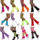 ADULT NEON LEG WARMERS 80S WORKOUT AEROBICS COSTUME LEGWARMERS DANCER HOSIERY
