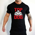 TOP DOG Bodybuilding Training Gym Motivation Muscles MMA Tshirt Tee Top Pitbull