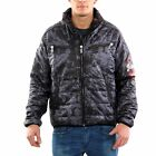 YAKUZA Herren Übergangs Stepp Jacke TRASHED QUILTED Grey 10041