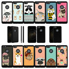 For ZTE Blade X Z965 (2017) Protective Shockproof Dual Bumper Case - Cute Pets