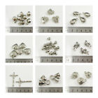 SILVER PLATED ACRYLIC CHARM BEADS *19 STYLES* BEADING JEWELLERY MAKING CRAFTS