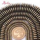 Gold Heishi Rondelle Disc Metallic Coated Hematite Stone Spacer Loose Beads 15""