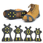 Anti Slip Shoe Boot Grips Ice Cleats Spikes Grippers Non Slip Crampons Size-EU