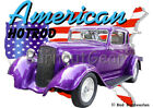 1933 Purple Plymouth Coupe Custom Hot Rod USA T-Shirt 33 ...